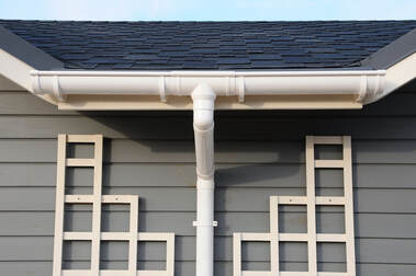 Professionally Installed Home Rain Gutter System.